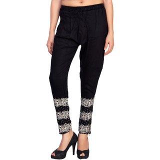 Comix Cotton Rayon Fabric Women Harem Pants With Zipper