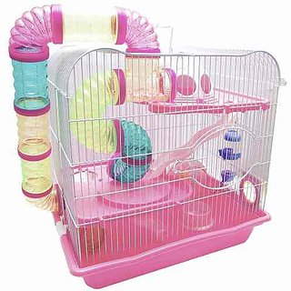 HAMSTER CAGE with Excercise wheel  Tunnel (imported) BPH 342