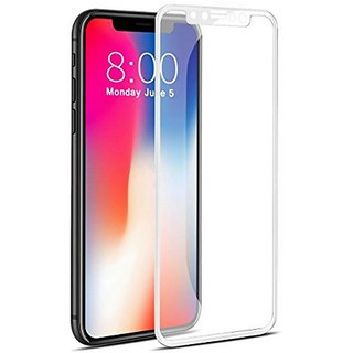 Archist 5D BEST QUALITY Tempered Glass FOR Apple iPhone XG (White)