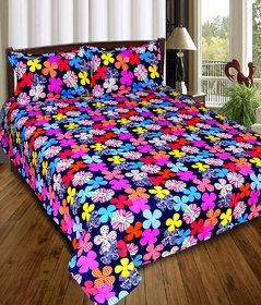 3D DOUBLE BEDSHEET WITH 2 PILLOW COVERS
