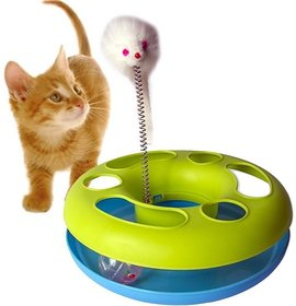 Cat Toys Fancy with bell ball  spring mice