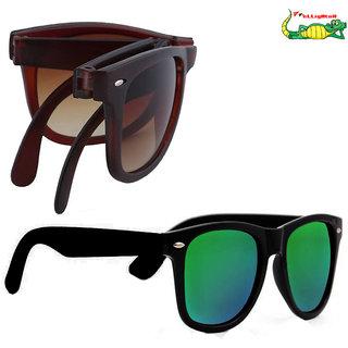 Elligator Sunglasses Combo (Folded Wayfarer + Reflected Sunglasses)