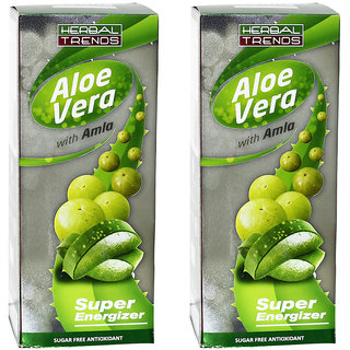 Herbal Trends AloeVera With Amla- Pure 1Ltr.   Pack of 2