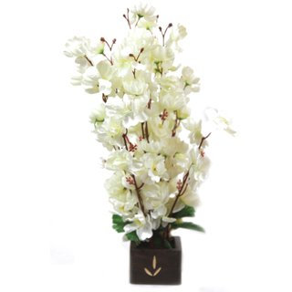 Artificial Flowers Bunch White Orchid Flower For Home Decor