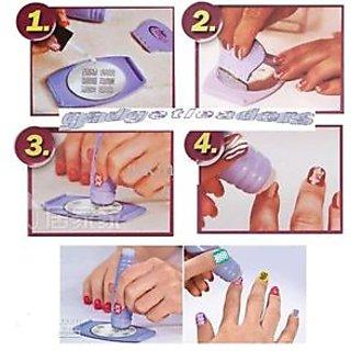 Salon express nail art kit salon express nail art stamping kit decoration nail polish paint prinsesfo Image collections
