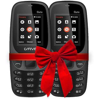 G-Five (Guru) 3310 COMBO OF 2 (Black+Black) (1.8 Inch,Dual Sim, BIS Certified Charger battery)