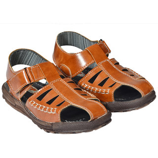 6164fa12478f2 COMFORTABLE CASUAL  PARTY WEAR LEATHER SANDALS BROWN COLOR FOR KIDS (KID 27)
