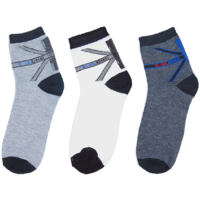 Novelty Premium Sports Cotton Ankle Socks-Pack of 3(Assorted)