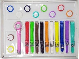 11 in 1 Changeable Analog Plastic Watch - Women