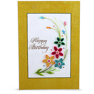Handcrafted Emotions Handmade Birthday Greeting Card