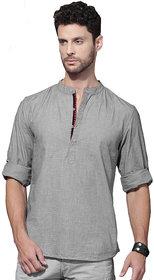 Zavlin grey Poly- Cotton casual kurta