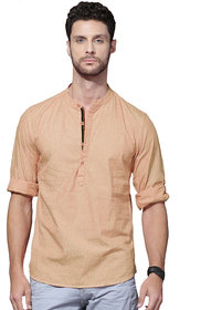 Zavlin orange cotton casual kurta