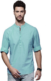 Zavlin Aqua Poly- cotton  casual Kurta