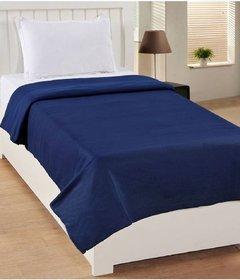 Nakoda Creation Plain Single Blanket Blue  (Fleece Blanket, 1 Single Polar Blanket)