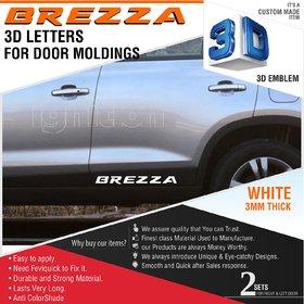 Brezza 3d Letters for Maruti Suzuki Brezza Door Moldings