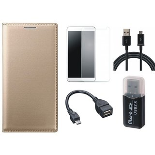 Samsung J5 Prime Cover with Memory Card Reader, Tempered Glass, OTG Cable and USB Cable