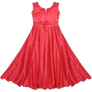 Buy Kids Girl Frock Dress For Baby Girl S Satin Lycra Party Wear