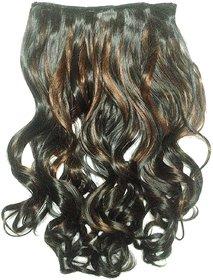 Ritzkart Womens Half Original Human hi quality Synthetic hair extension curlly maroon 33