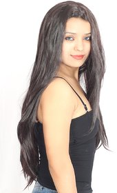Ritzkart Hair Wig 100 Feel Original Human Feeling Wig Quality Long Strait Hair silky Maroon Black 10733