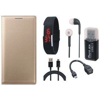 Samsung J5 Prime Stylish Cover with Memory Card Reader, Digital Watch, Earphones, OTG Cable and USB Cable