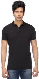 Funky Guys Mens Black Half Sleeve polo Tshirt