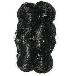 Ritzkart Funky Bun 4 Inch Hair Extension With Clutcher Hair Accessories (Natural Black)