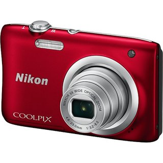 Nikon Coolpix A100 Point Shoot Camera (Red)