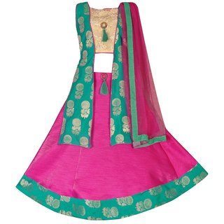 Padmashri International Girl's Lehenga Choli Ethnic Wear Lehenga, Choli and Dupatta Set