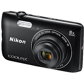 Nikon Coolpix A300 20.1MP Point and Shoot Camera with 8x...