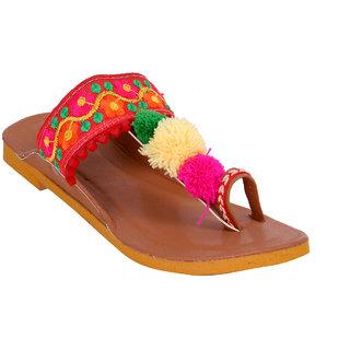Meia Women Brown Color Ethnic Footwear