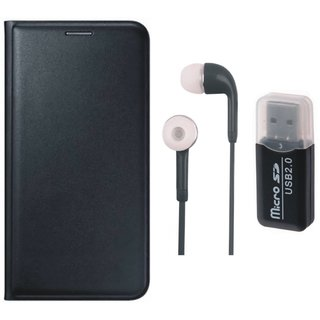 Lenovo K4 Note Flip Cover with Memory Card Reader, Earphones