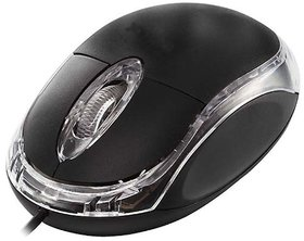 Deals E Unique Optical Mouse 3D USB Black USB Wired Mou