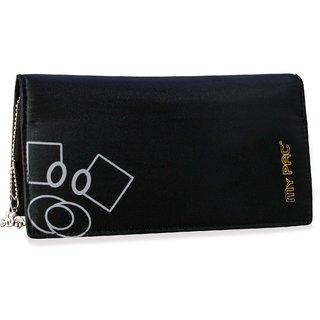 my pac Mia hand clutch purse for girls black  C11575-1
