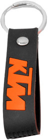 Faynci Double Sided KTM Inspired Silicon Black Keychain Car keychain collectible