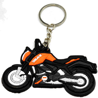 Faynci Duke Bike Logo Silicone Orange/Black/White Key Chain