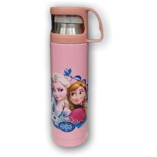 Upneja Handloom Cartoon Printed Steel water bottle for kids BPA free, 500 ml, Multicolored  Flask