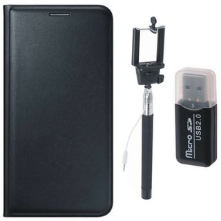 Lenovo K4 Note Cover with Memory Card Reader, Free Silicon Back Cover and Selfie Stick