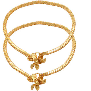 Memoir Gold Plated Gold Alloy Anklets For Women