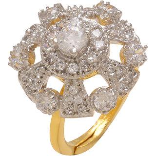 Memoir Gold Plated Gold Alloy Ring For Women