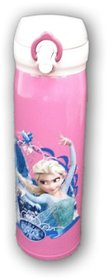 STAINLESS STEEL CARTOON PRINTED FLASK BOTTLE FOR , 500ML , SCHOOL WATER BOTTLE (FROZEN)