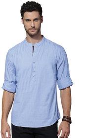 Zavlin blue cotton casual kurta