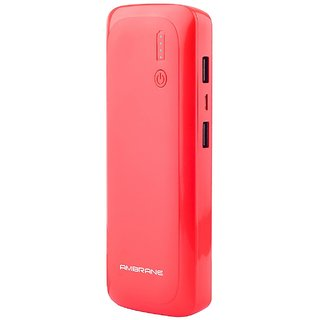 Ambrane Power bank P-1250 12500mah Red