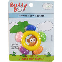 Buddyboo Circle Shaped Silicone Baby Teether,Yellow