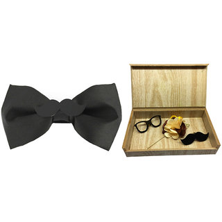 Visach combo of Men party wear accessories with stylish bow Tie