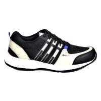 Shoeson Men's Black and White Sports Shoes