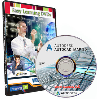 AutoCAD Map 3D Video Training With exercise files Tutorial DVD