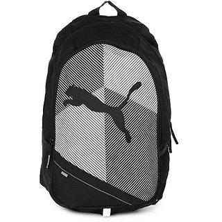 Puma Unisex Echo Plus Black  White Backpack Bag