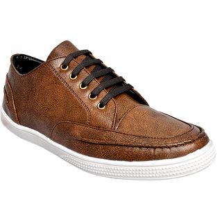 Ostr Men's Casual Brown Sneaker Shoes