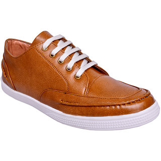 Ostr Men's Casual Brown Sneaker Shoes