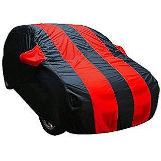 Benjoy Arc Blue Stylish Red Stripe Car Body Cover For Maruti Suzuki Brezza